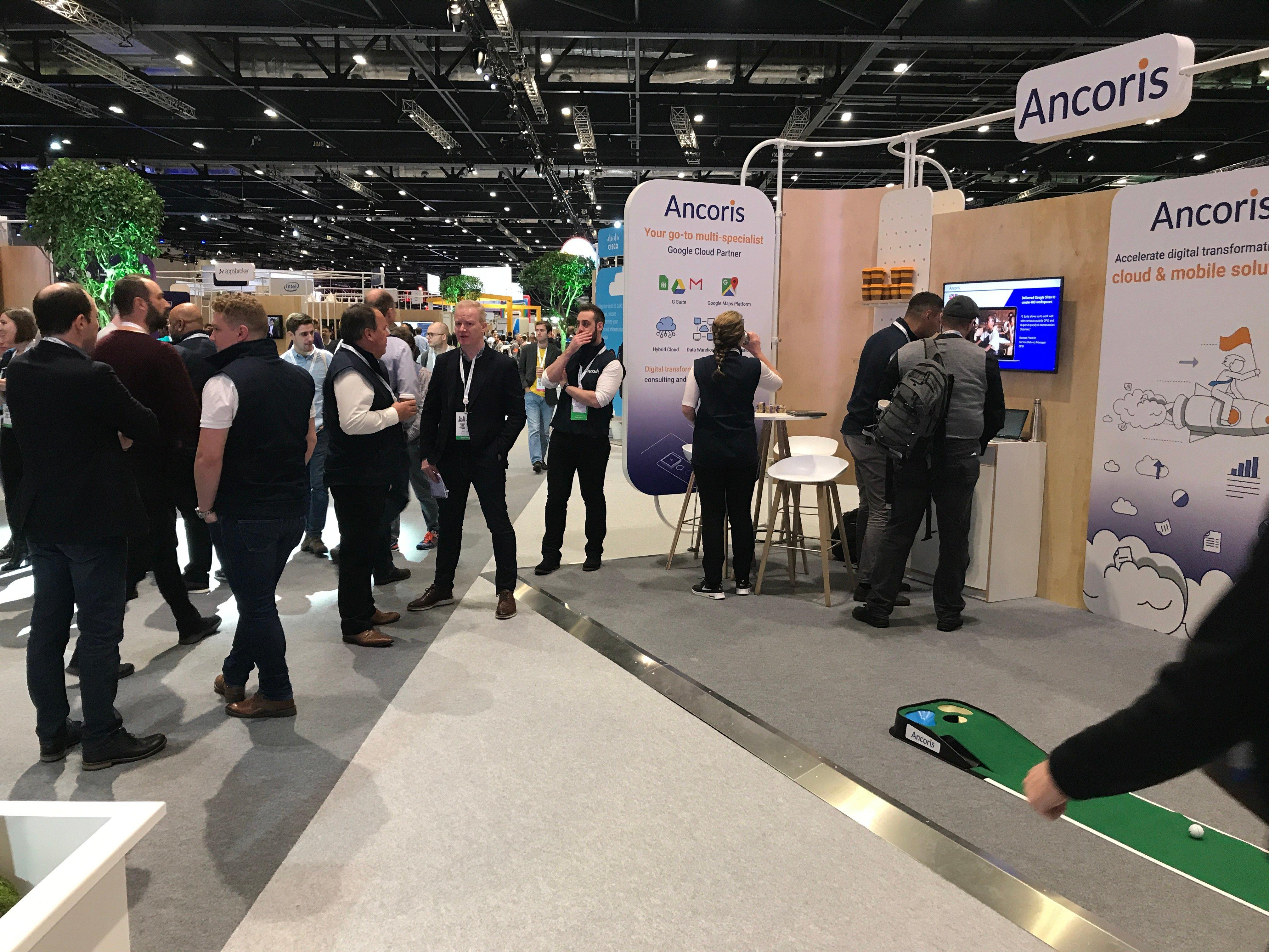 Ancoris stand at Google Next 19