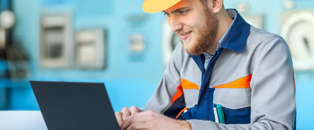 mobile worker with device