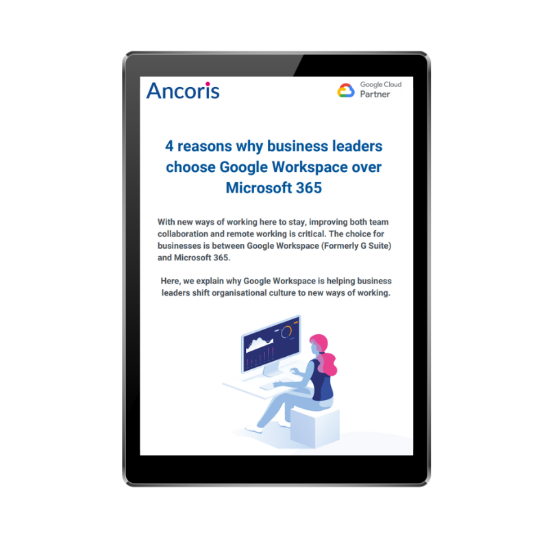 FRONT COVER - 4 reasons business leaders choose Google Workspace over Office 365