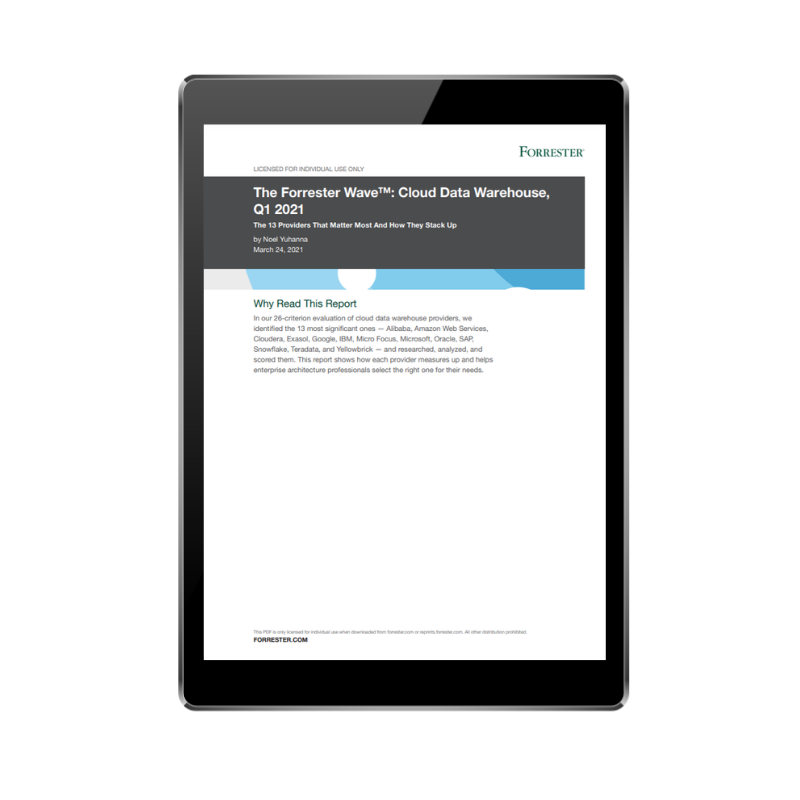 FRONT COVER - The Forrester Wave_ Cloud Data Warehouse Comparison Report (1)