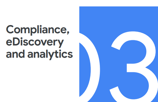 Google Workspace Compliance, eDiscovery and analytics