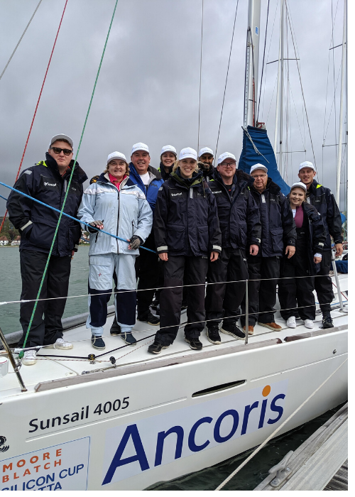 Ancoris crew at Silicon Cup sailing regatta