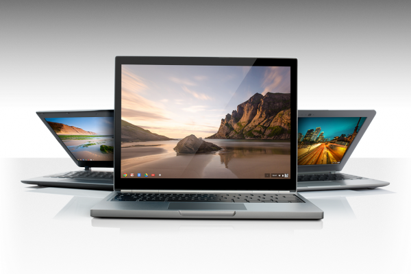Three Chromebooks