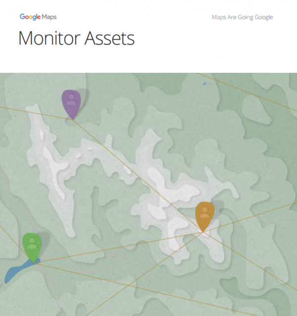 How to monitor assets with Google Maps
