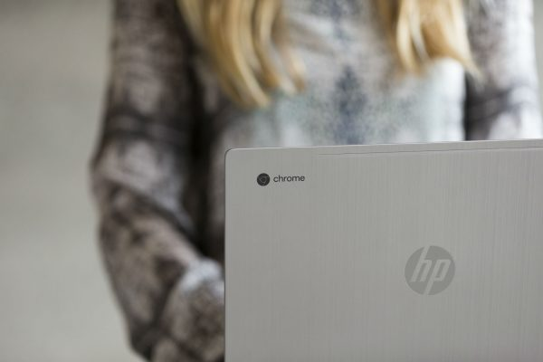 Front of HP Chromebook