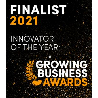 Award logo - Innovator of the Year - Growing Business Awards
