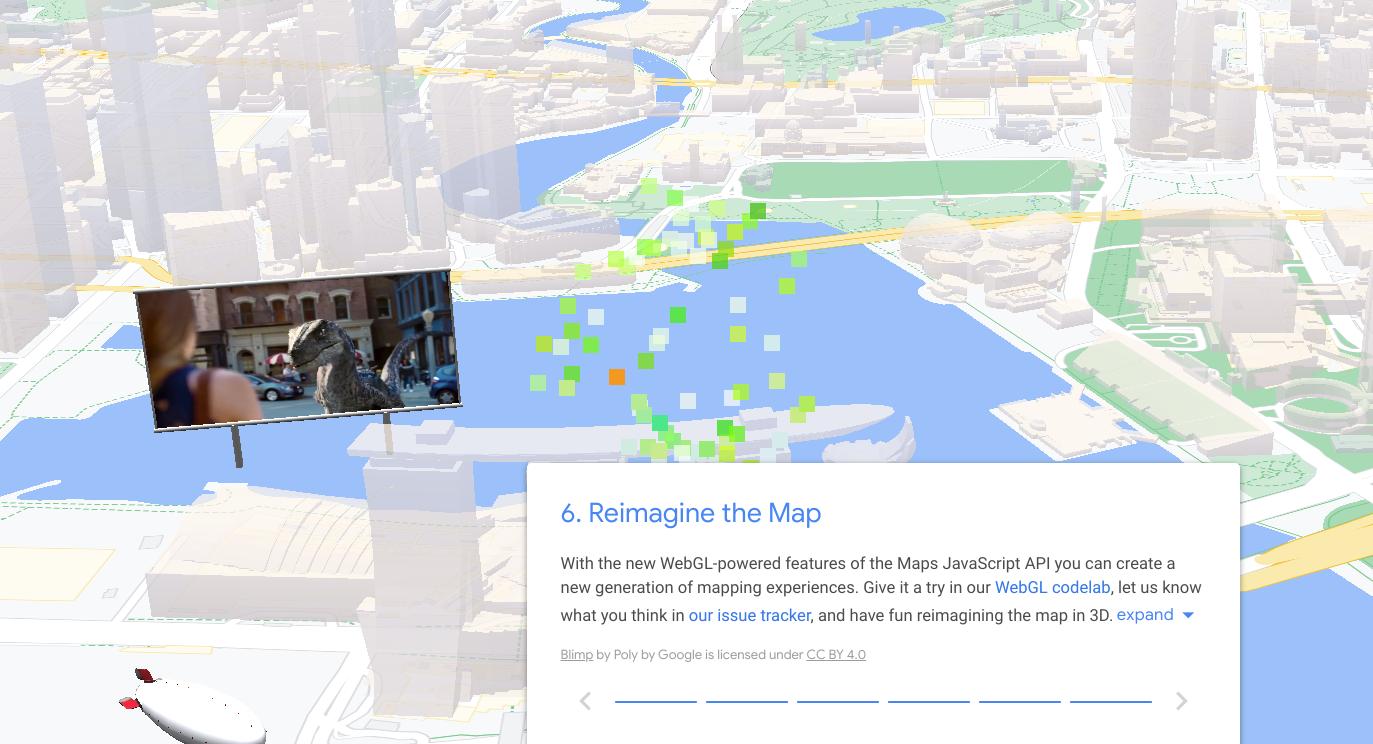 WebGL-powered Google Maps features
