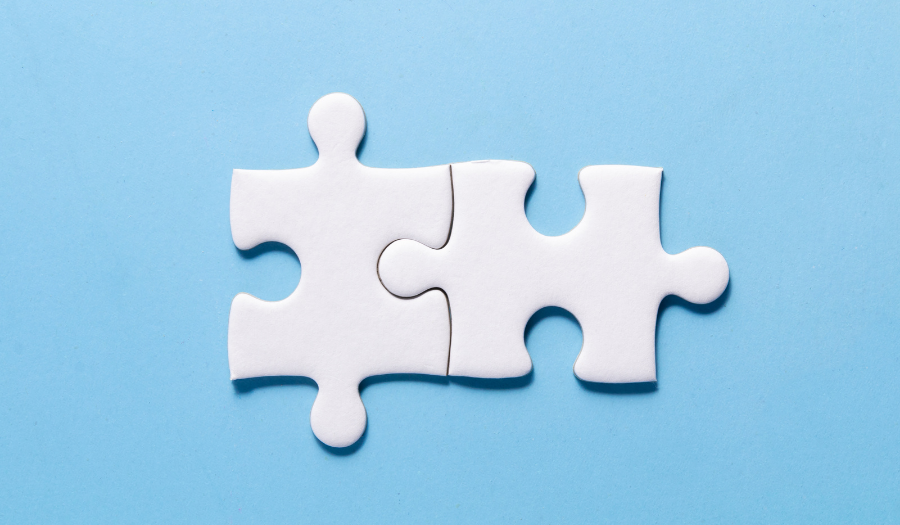 Jigsaw pieces to represent secure API