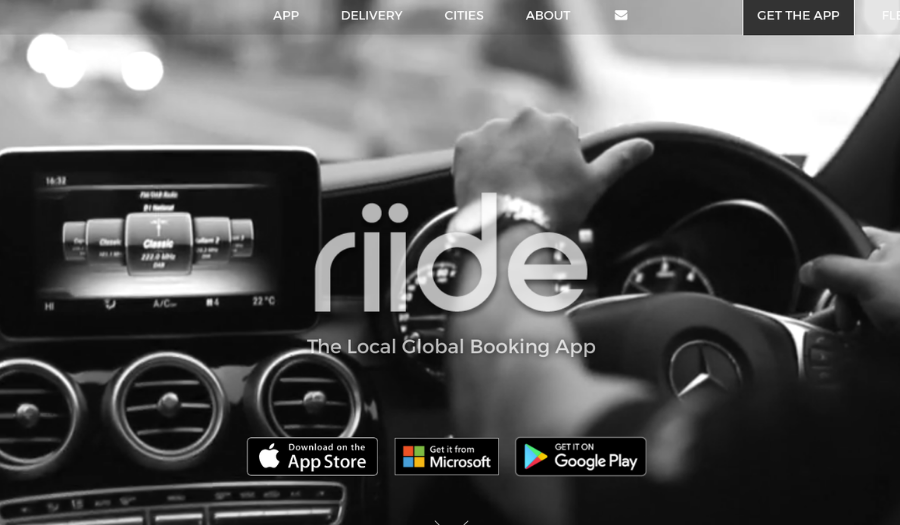 Riide private hire booking app