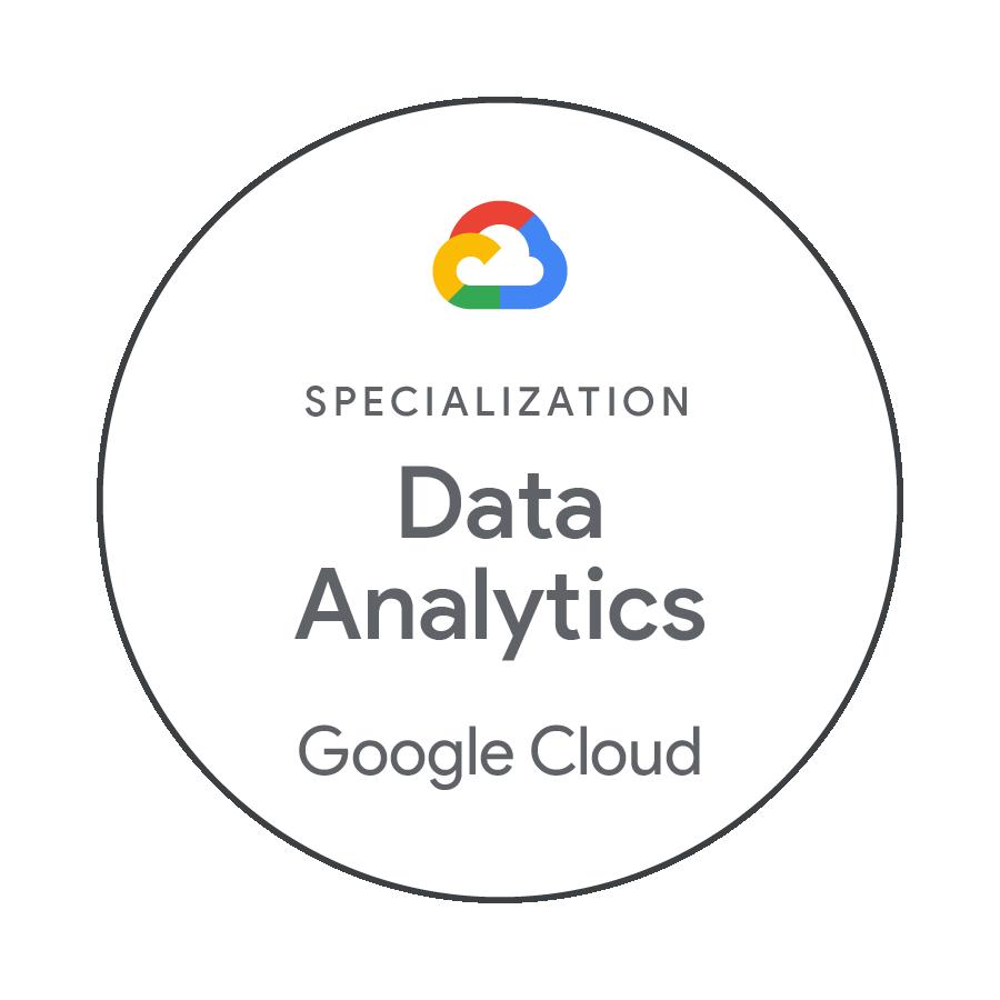 Specialisation Data Analytics Google Cloud