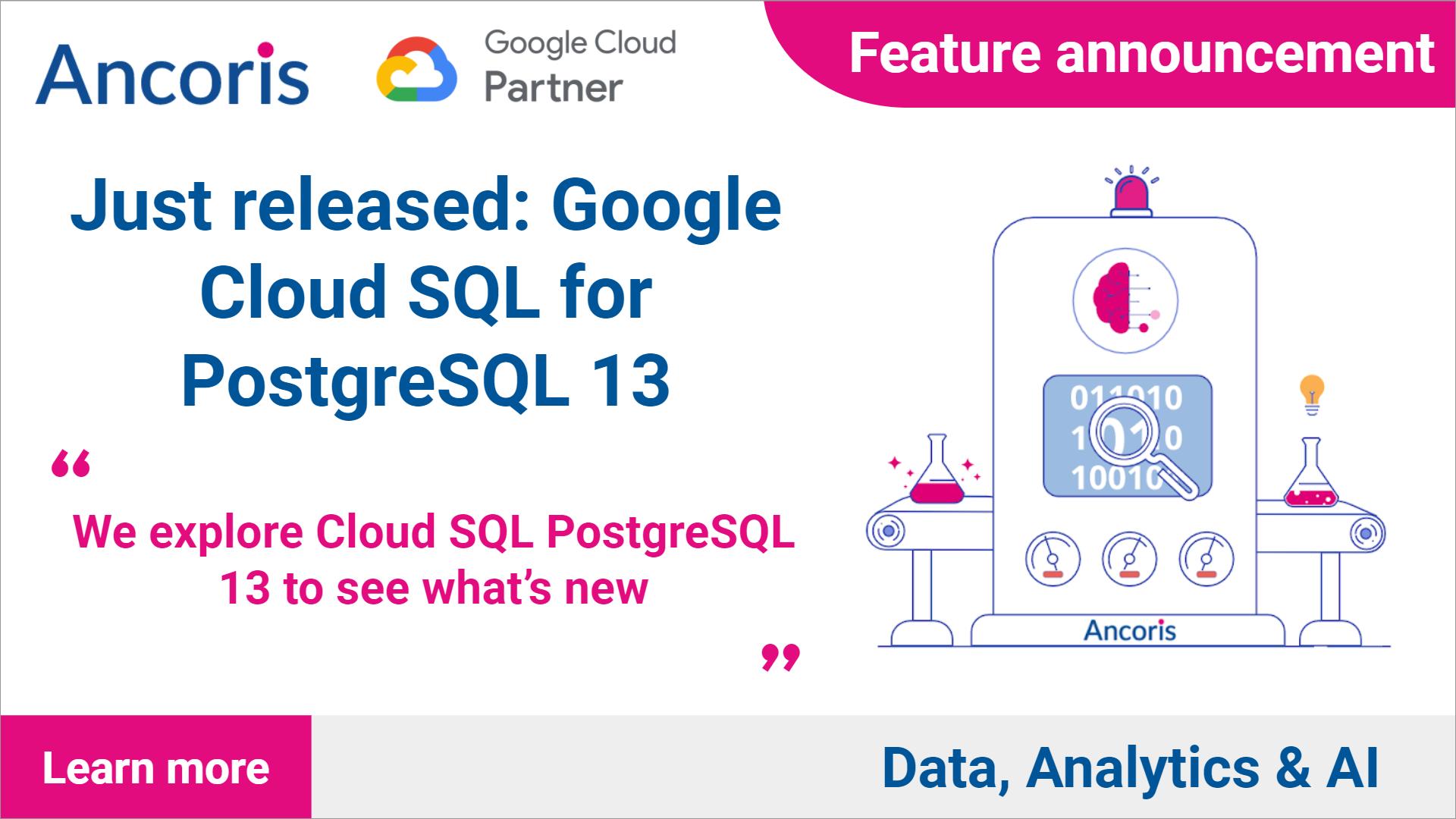 Released: Cloud SQL for PostgreSQL 13