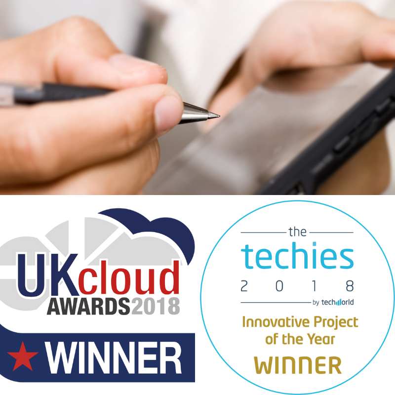 Digital technician and 2 awards logo
