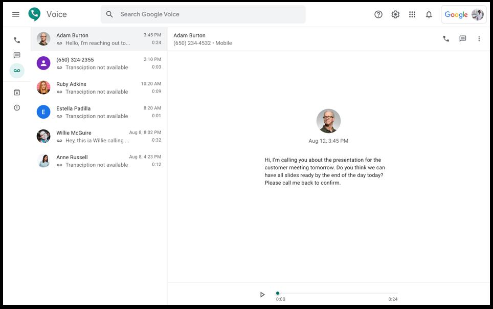 Google Voice for Admins